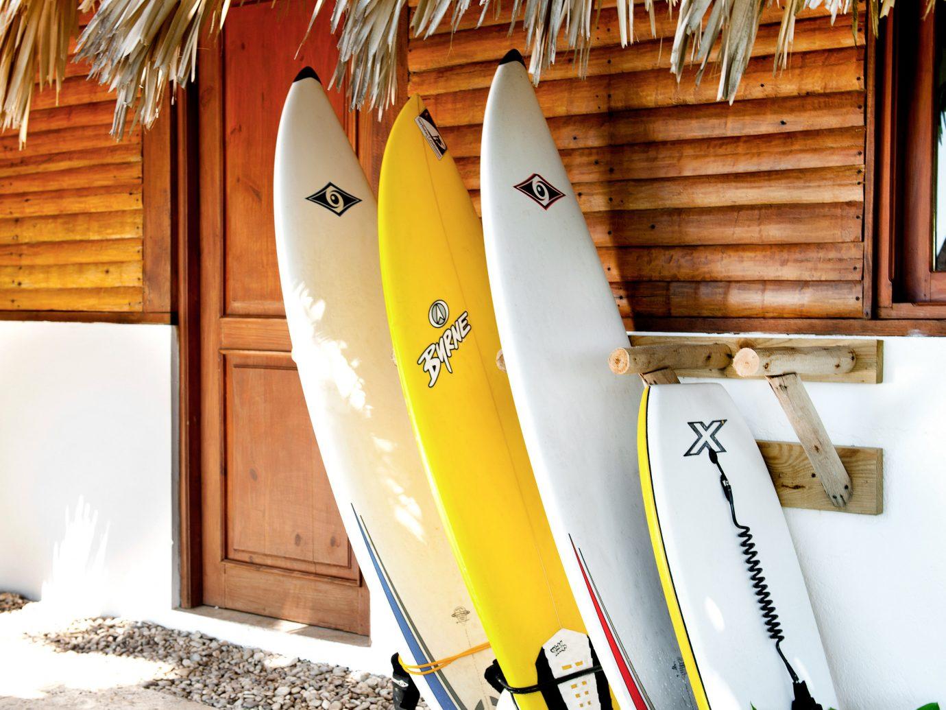 Surfboards At Bonita Tropical Lodge In Santa Cruz