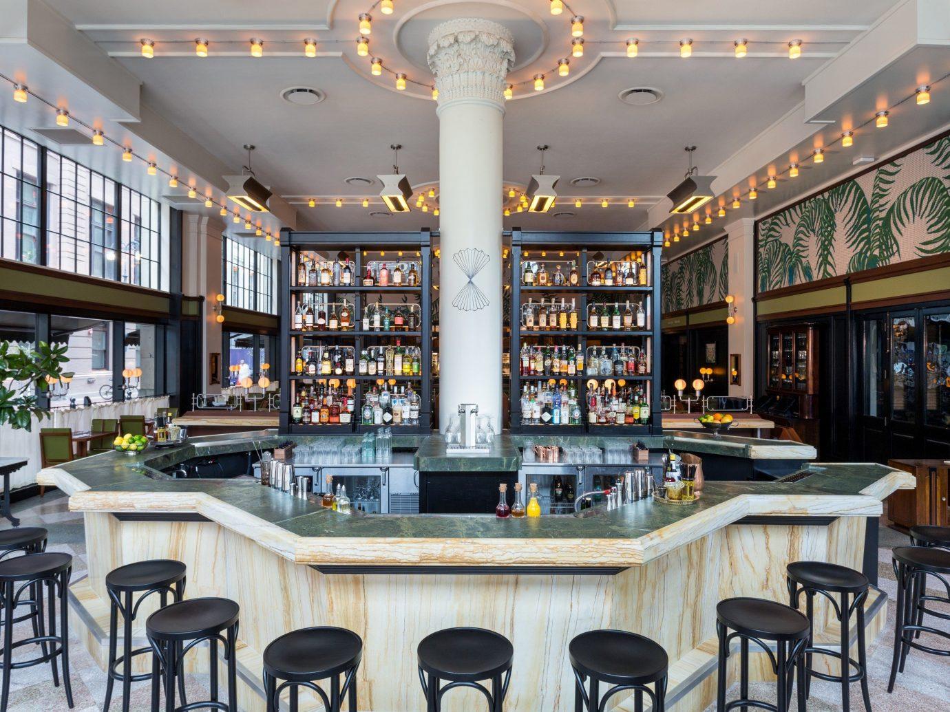 Food + Drink Girls Getaways Hotels New Orleans Trip Ideas Weekend Getaways indoor chair property room estate restaurant interior design real estate Bar meal Design