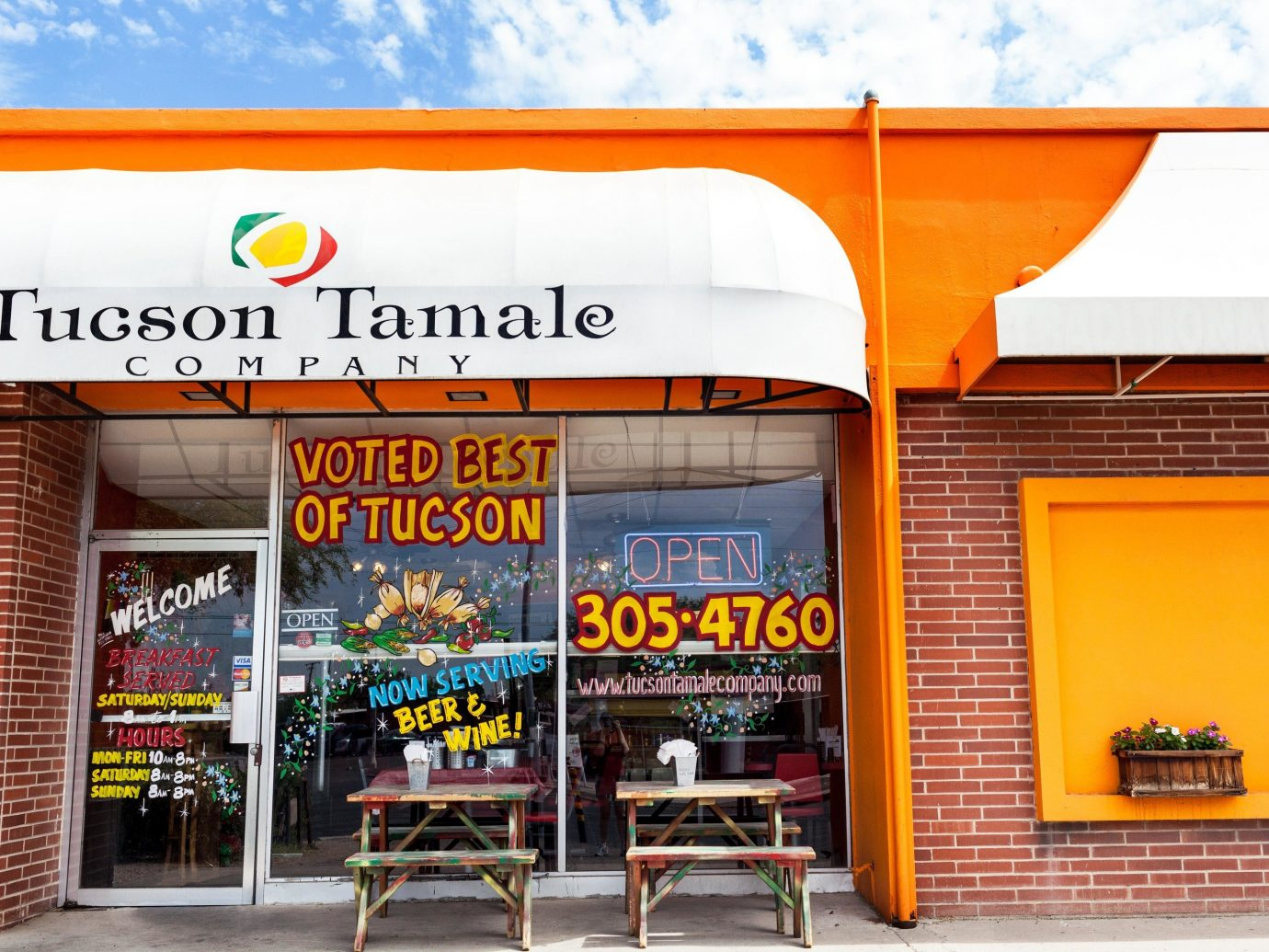 Budget Weekend Getaways outdoor fast food advertising retail interior design facade brand signage fast food restaurant window covering restaurant banner sign