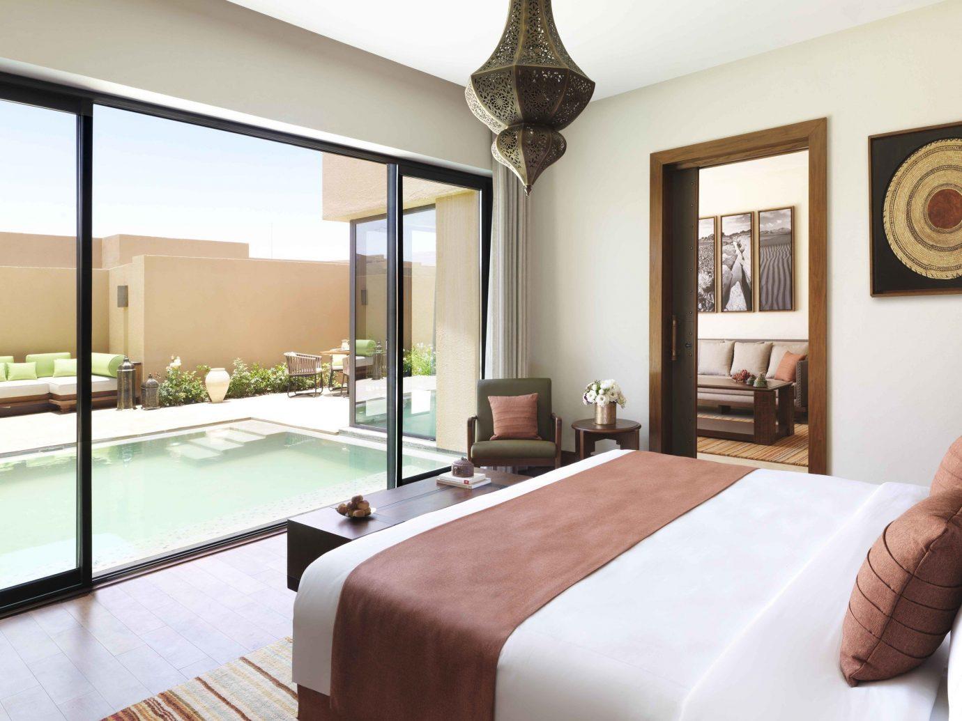 Hotels indoor wall room floor property window bed estate Bedroom Suite interior design real estate Villa hotel condominium Resort furniture flat