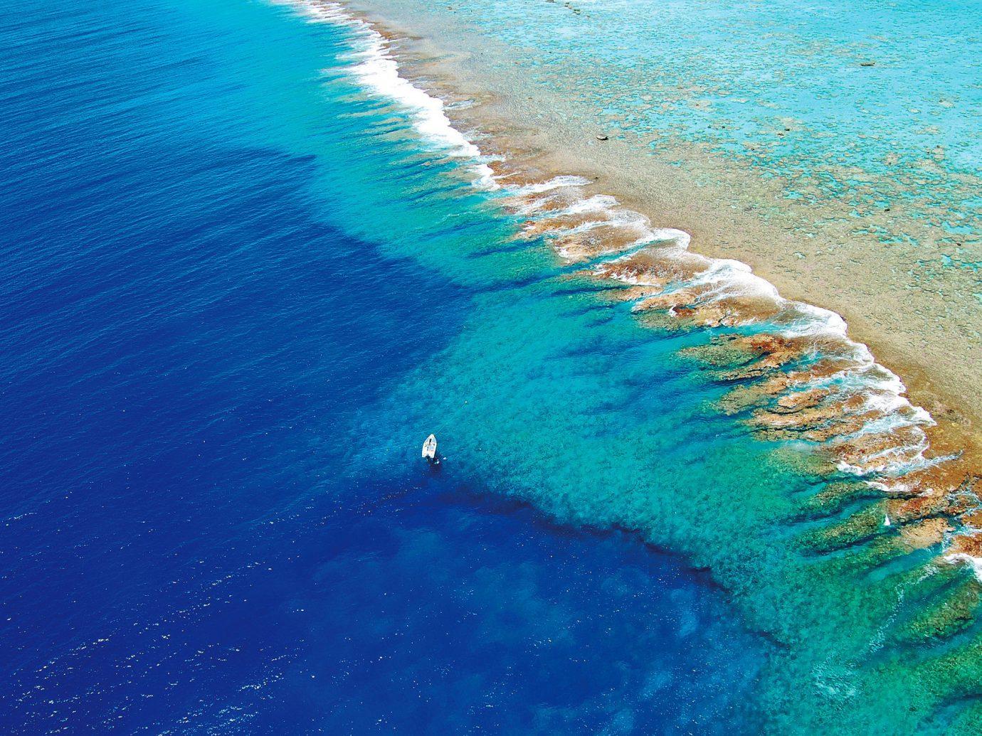 beach atThe Brando, French Polynesia