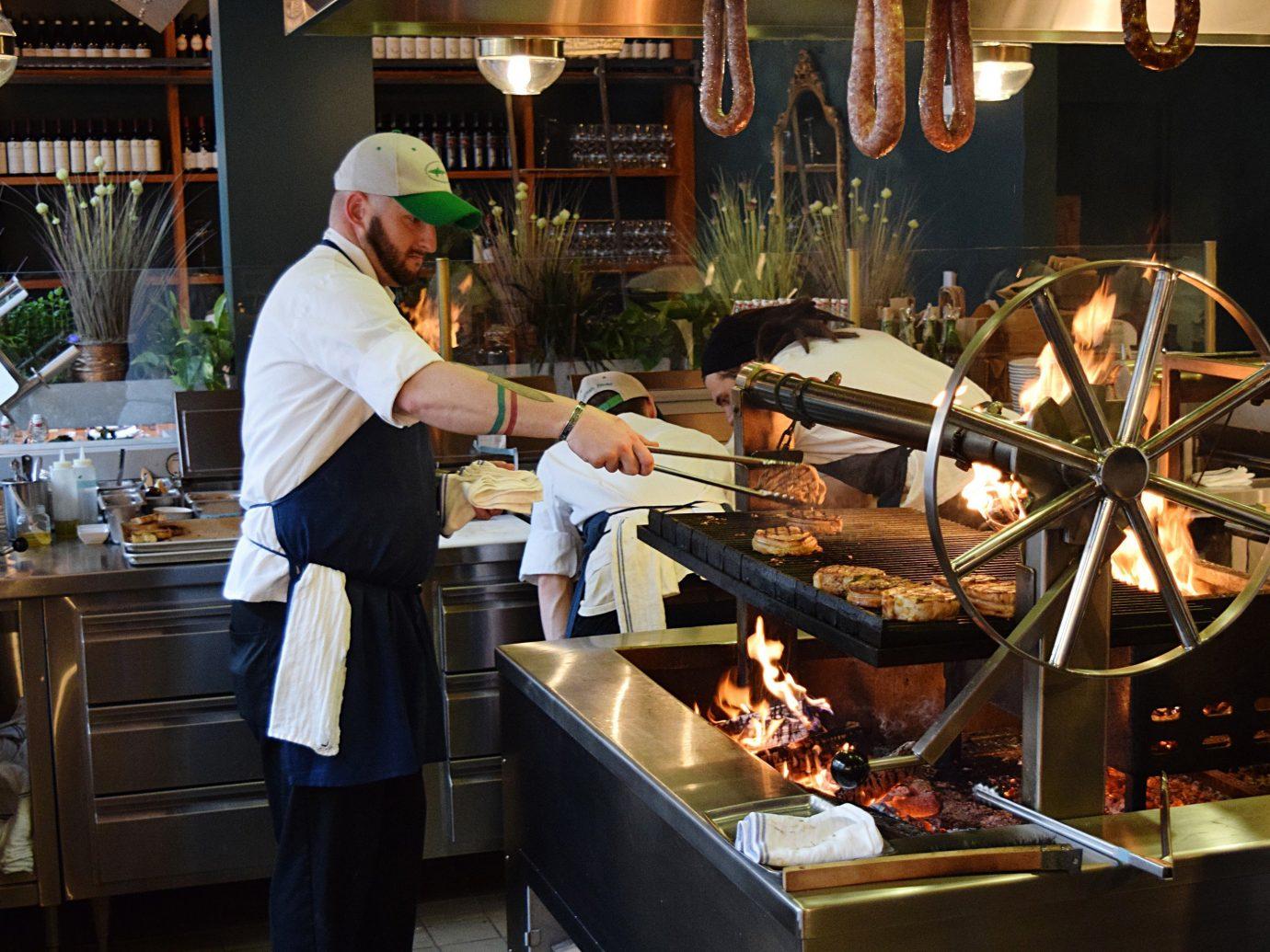 Man grilling at Terra in Boston