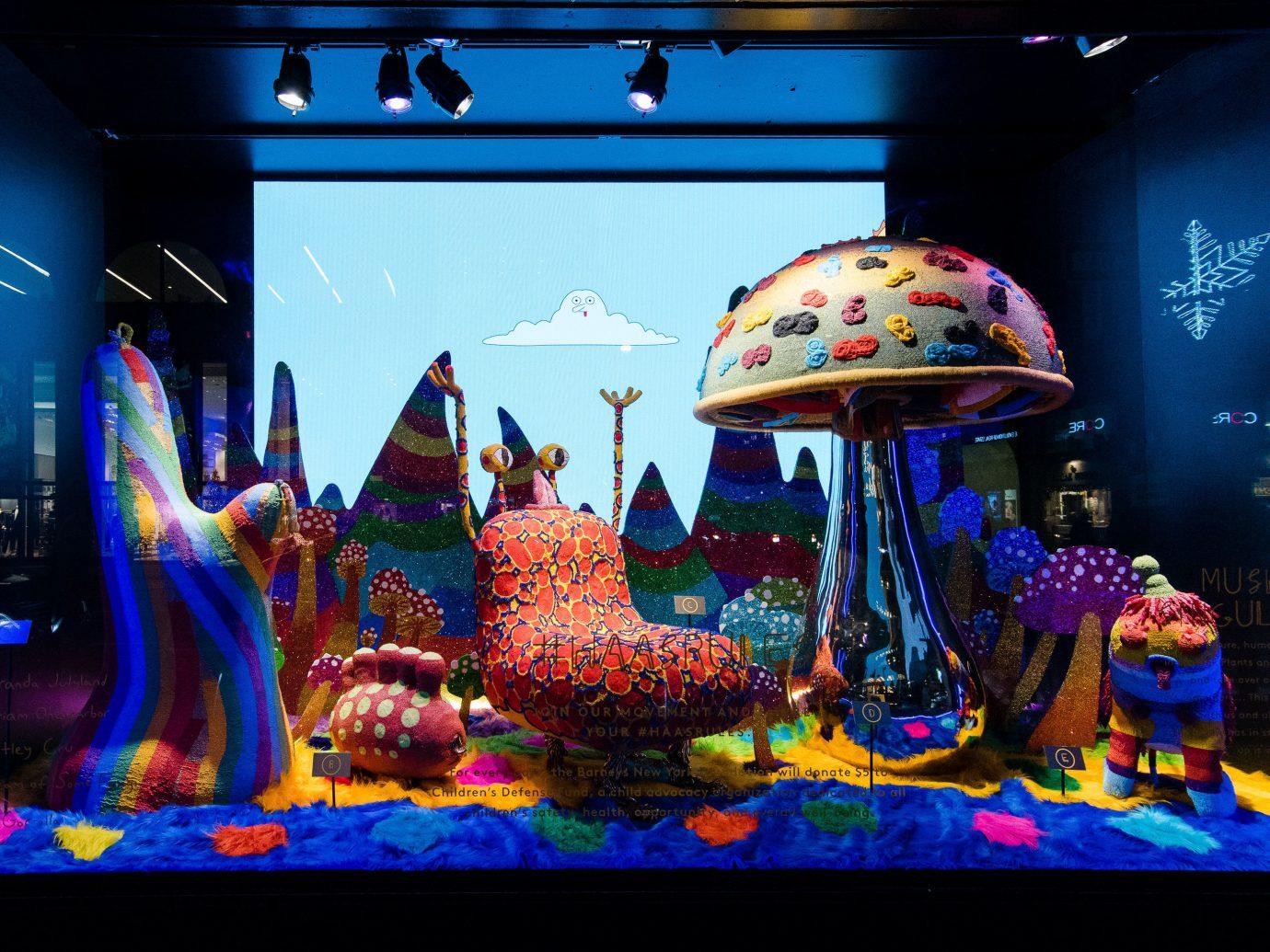 Offbeat Winter indoor fun art computer wallpaper blue colorful colored
