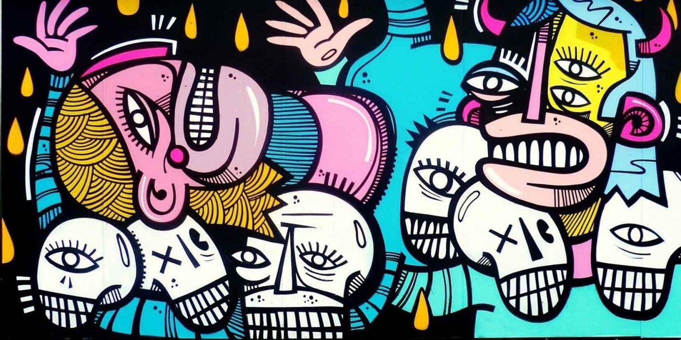 Arts + Culture cartoon art graffiti font street art illustration modern art