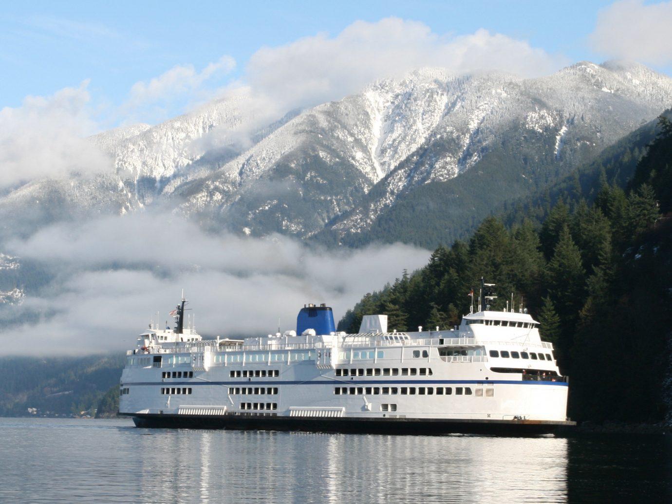 Trip Ideas outdoor sky mountain water vehicle Boat passenger ship cruise ship ship ferry watercraft Sea fjord cargo ship traveling