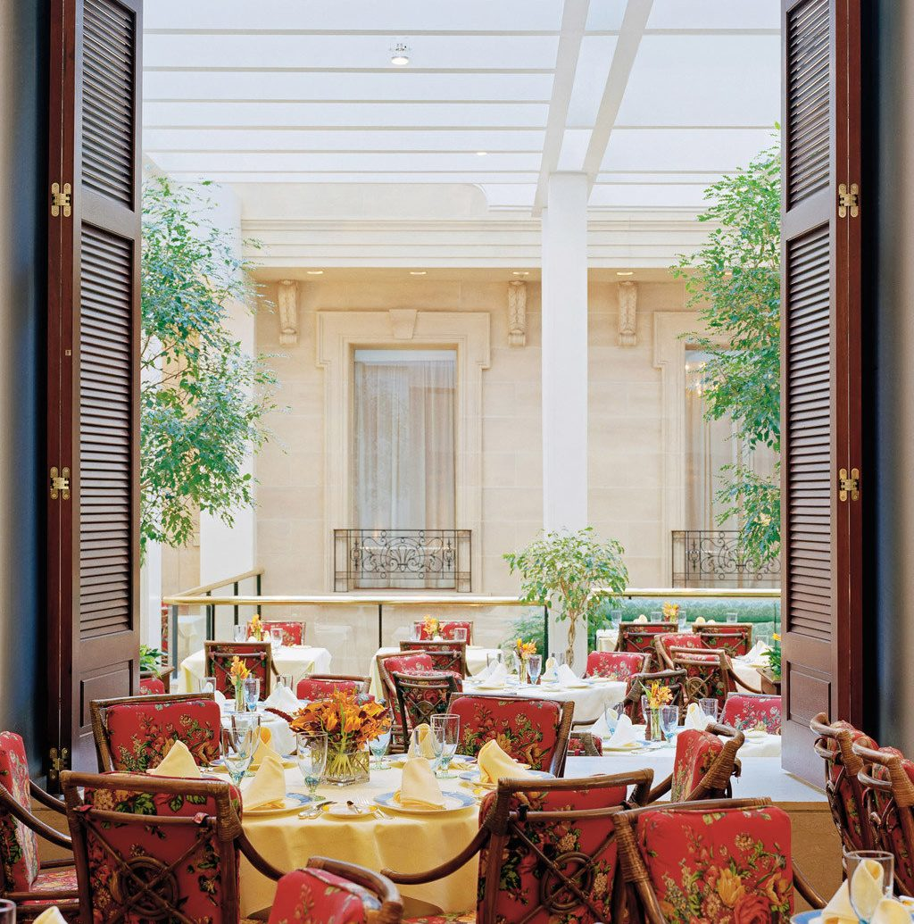 Architecture Classic Cultural Design Dining Drink Eat Elegant Historic Hotels Luxury Romance window indoor room interior design home dining room living room porch window covering decorated estate furniture several dining table