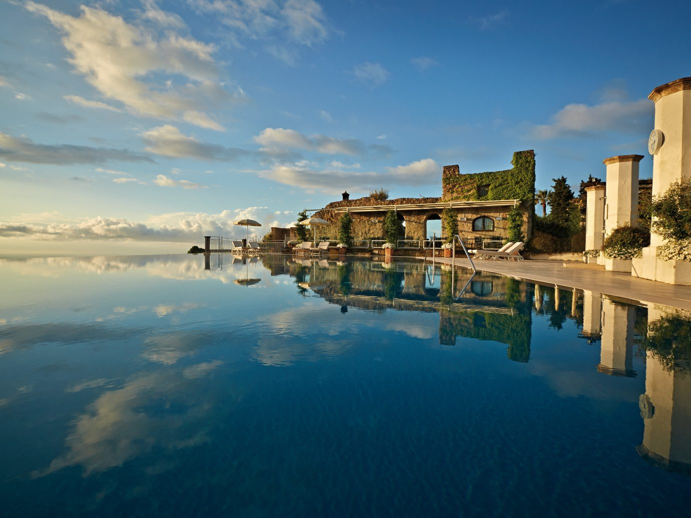 Infinity Pool At The Belmond Hotel Caruso, Ravello, A Luxury Hotel In Amalfi, Italy