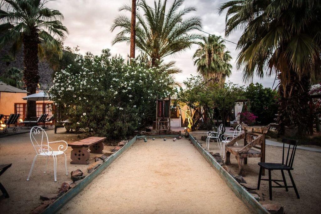 Patio at the Korakia Pensione, Palm Springs