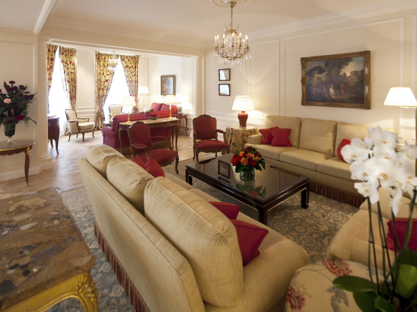 France Hotels Luxury Travel Paris indoor Living wall room floor sofa living room property ceiling interior design home Suite furniture real estate estate flooring table decorated house area flat