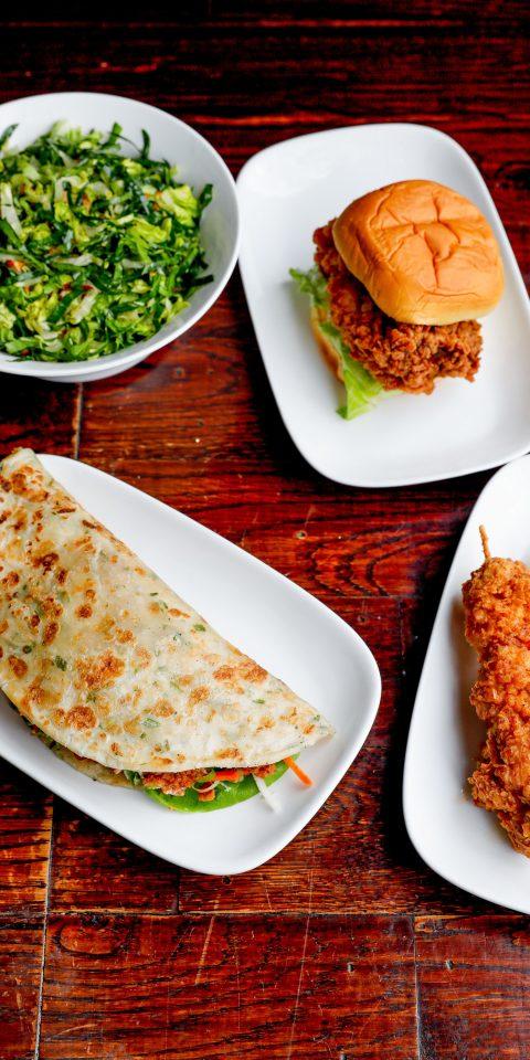 Food at Dekalb Market Hall in Brooklyn NY