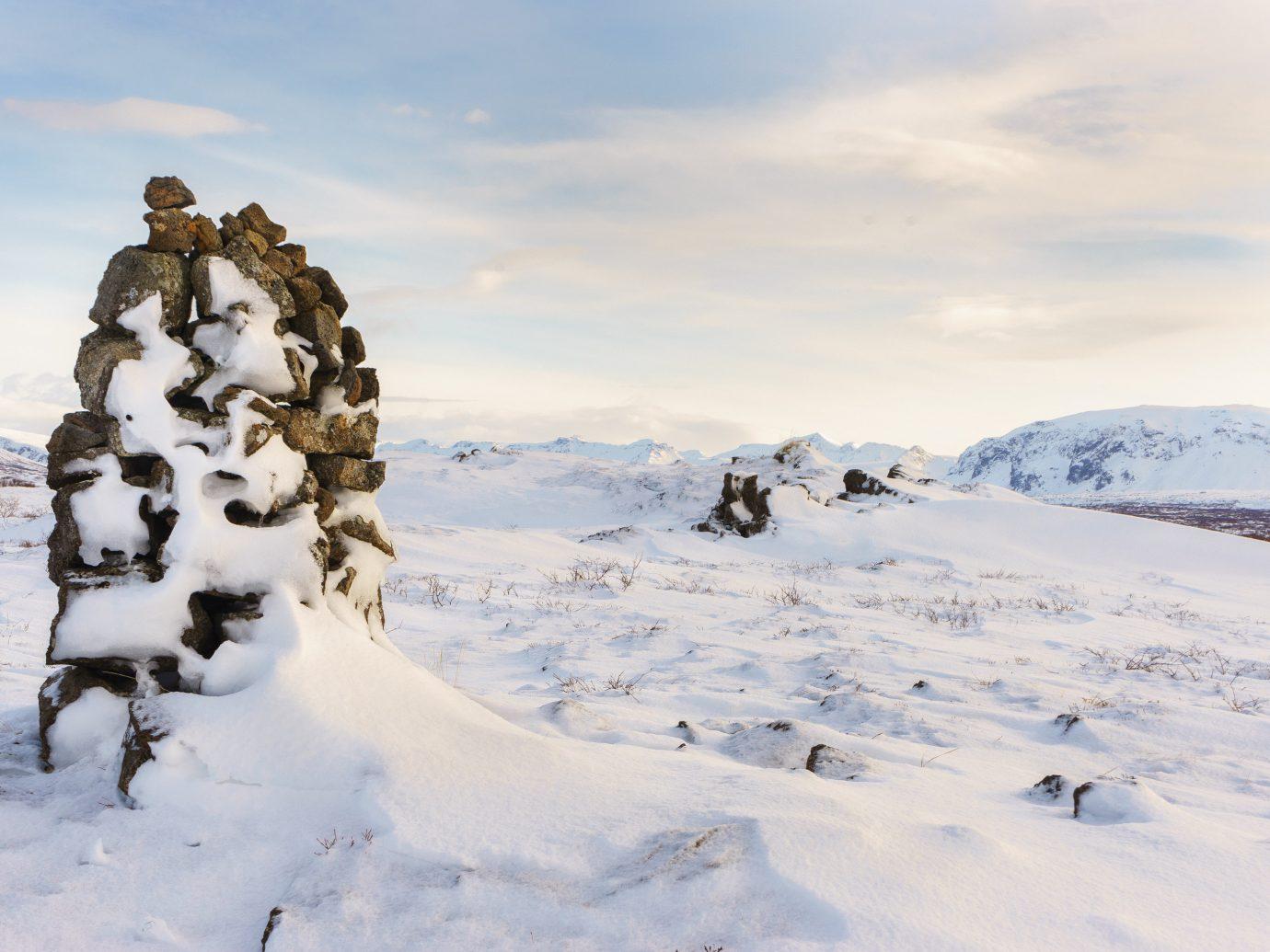 Iceland Trip Ideas snow outdoor sky Nature Winter mountainous landforms covered mountain weather geological phenomenon season mountain range footwear arctic hill ski touring ski mountaineering summit snowshoe slope day
