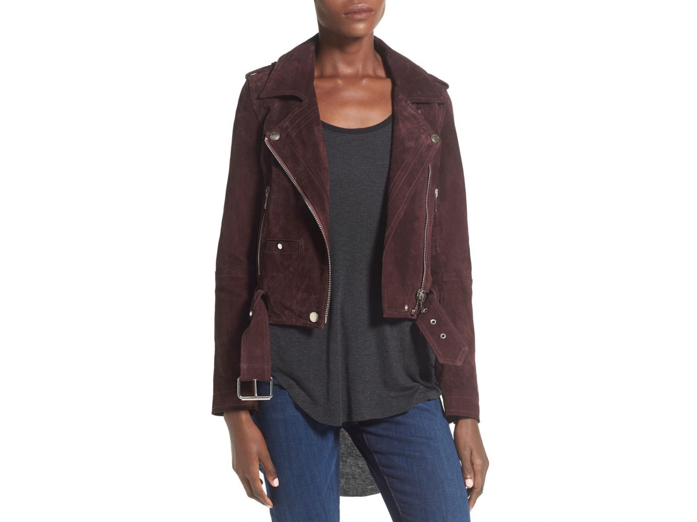 Style + Design person clothing jacket posing leather wearing outerwear suit blazer textile leather jacket sleeve material