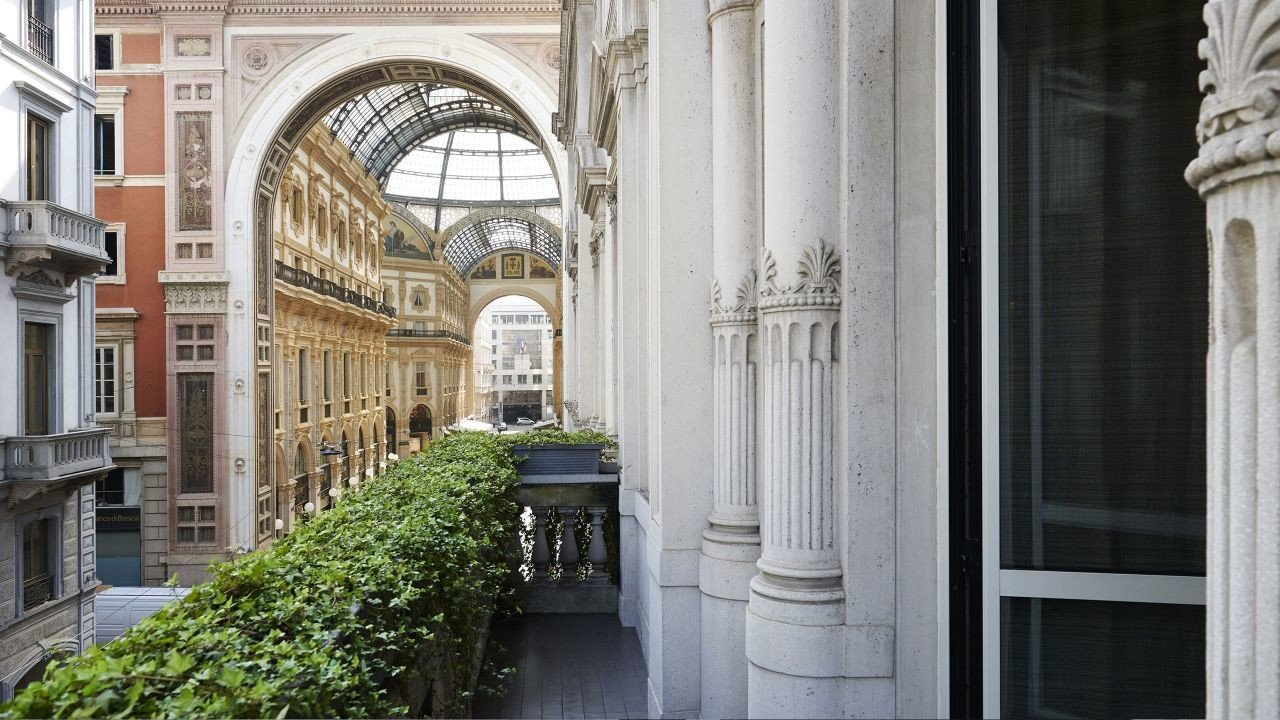 Hotels Italy Milan building structure classical architecture arch window arcade tourist attraction facade column Courtyard door