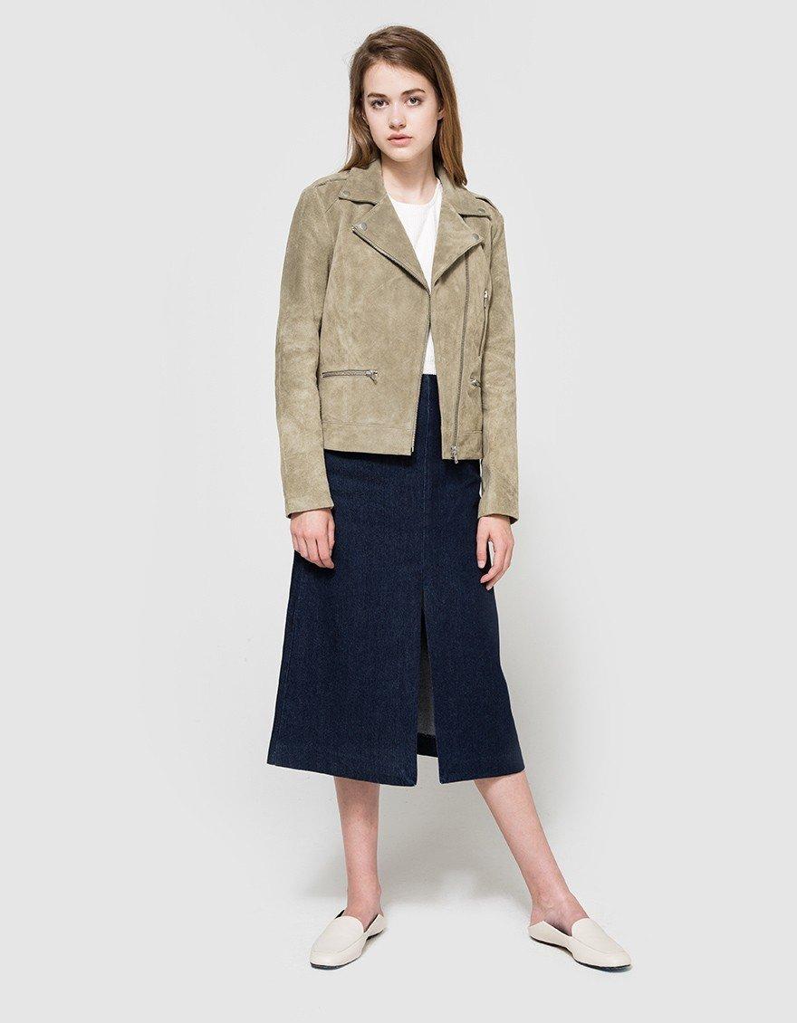 Style + Design person suit clothing standing man wearing posing sleeve outerwear jacket spring pattern textile leather denim Design collar fur coat pocket dressed tan