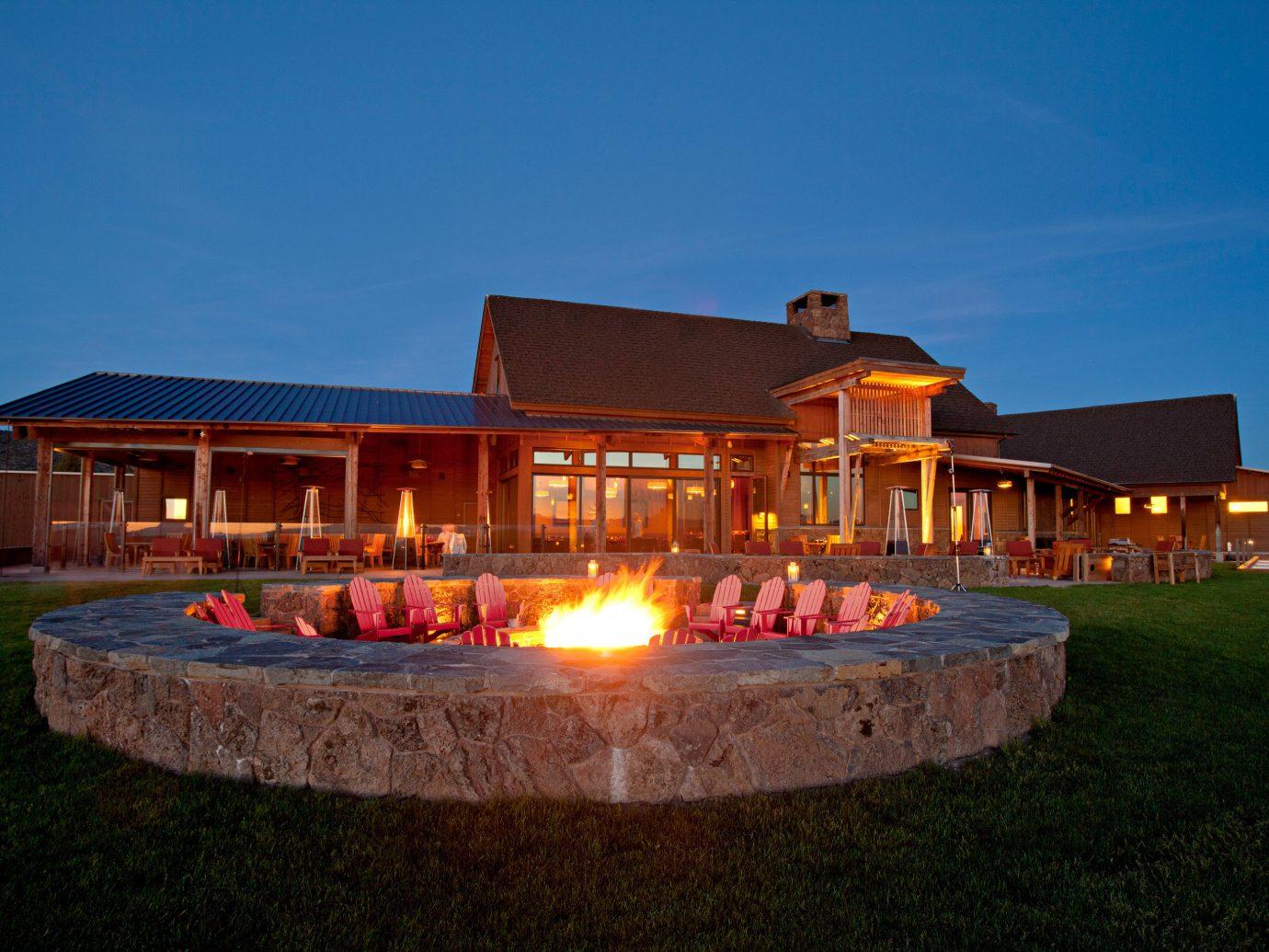 Outdoor fire pit at Brasada Ranch