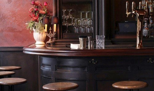 Food + Drink indoor room furniture dining room table interior design wood cabinetry living room dining table