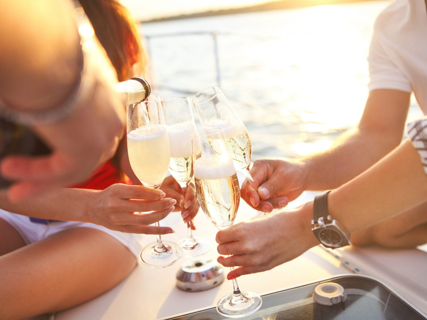 champagne Trip Ideas person table sitting woman meal eating dinner Drink restaurant Party sense lunch brunch rehearsal dinner drinking
