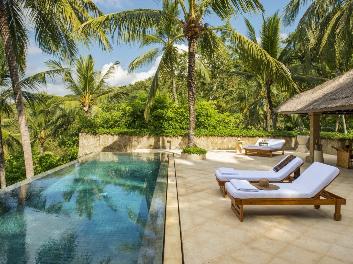 Health + Wellness Hotels tree outdoor swimming pool leisure property Resort estate vacation palm Villa backyard caribbean area plant