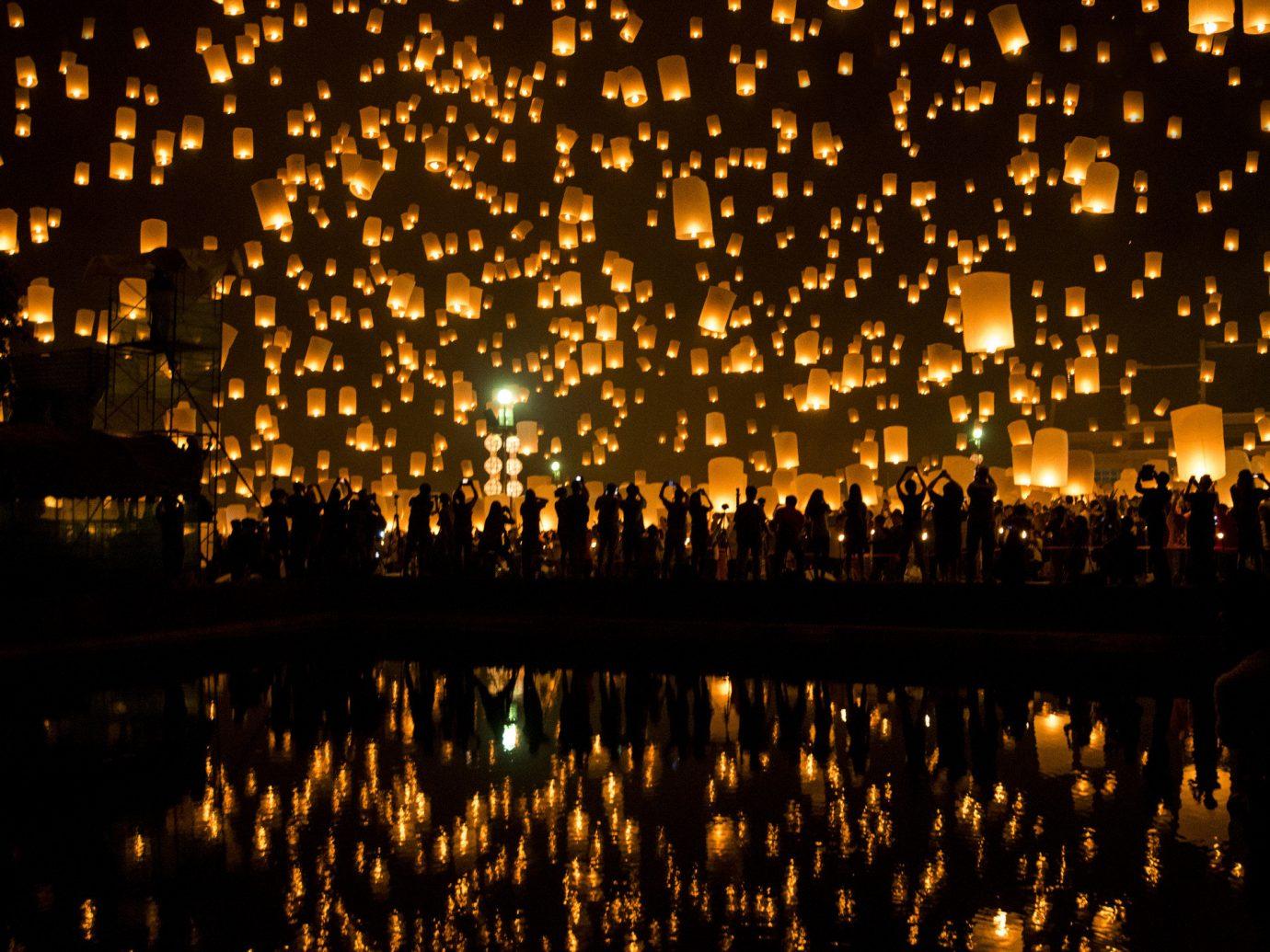 Romance Trip Ideas outdoor water fountain reflection night light darkness evening lighting City