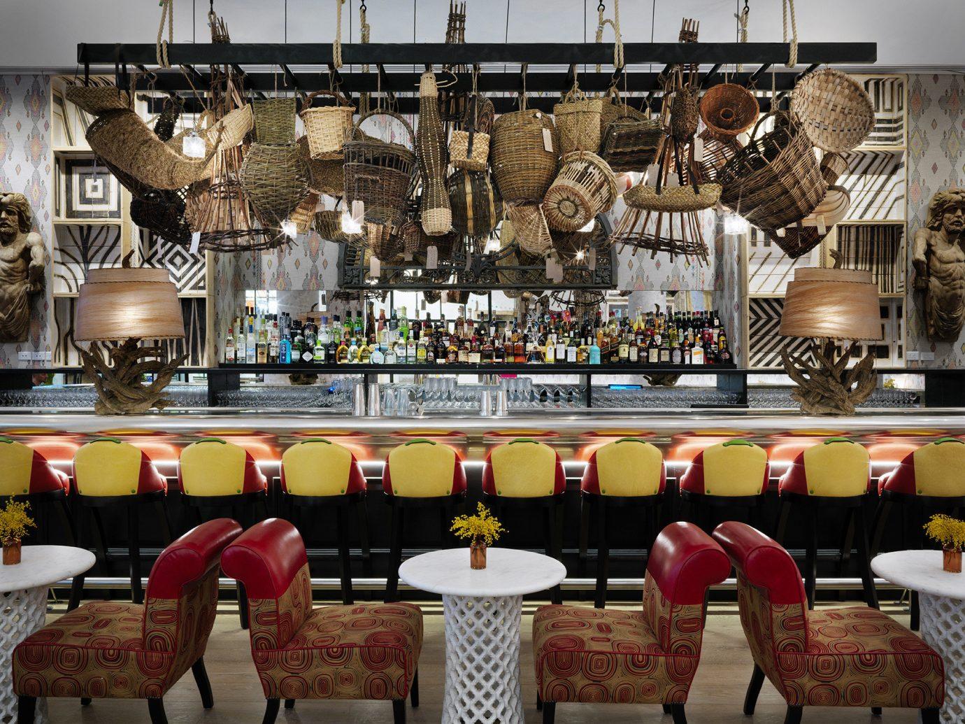 Hotels NYC indoor meal restaurant interior design furniture