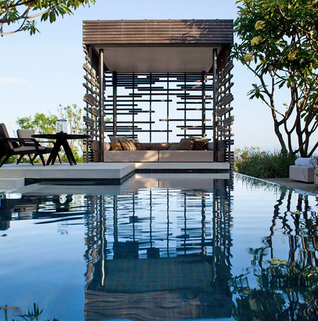 Eco Hotels Luxury Modern Pool Scenic views Villa tree outdoor water sky house Architecture reflection estate home swimming pool vacation River condominium Resort facade dock overlooking day several