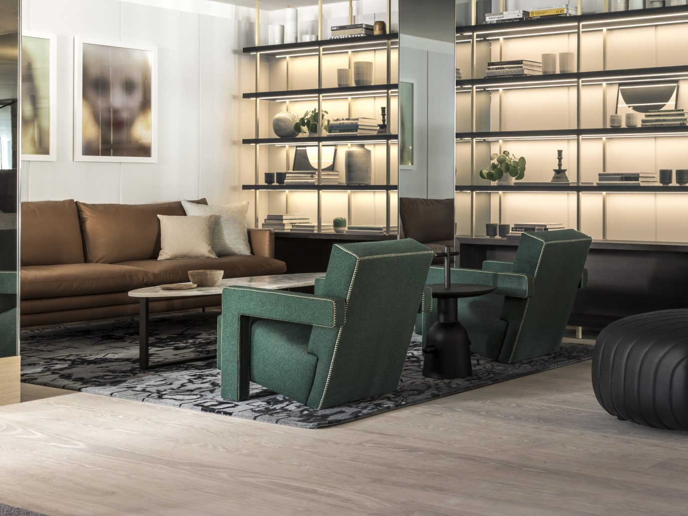 Amsterdam Hotels The Netherlands indoor furniture floor room interior design living room flooring chair table couch angle Lobby
