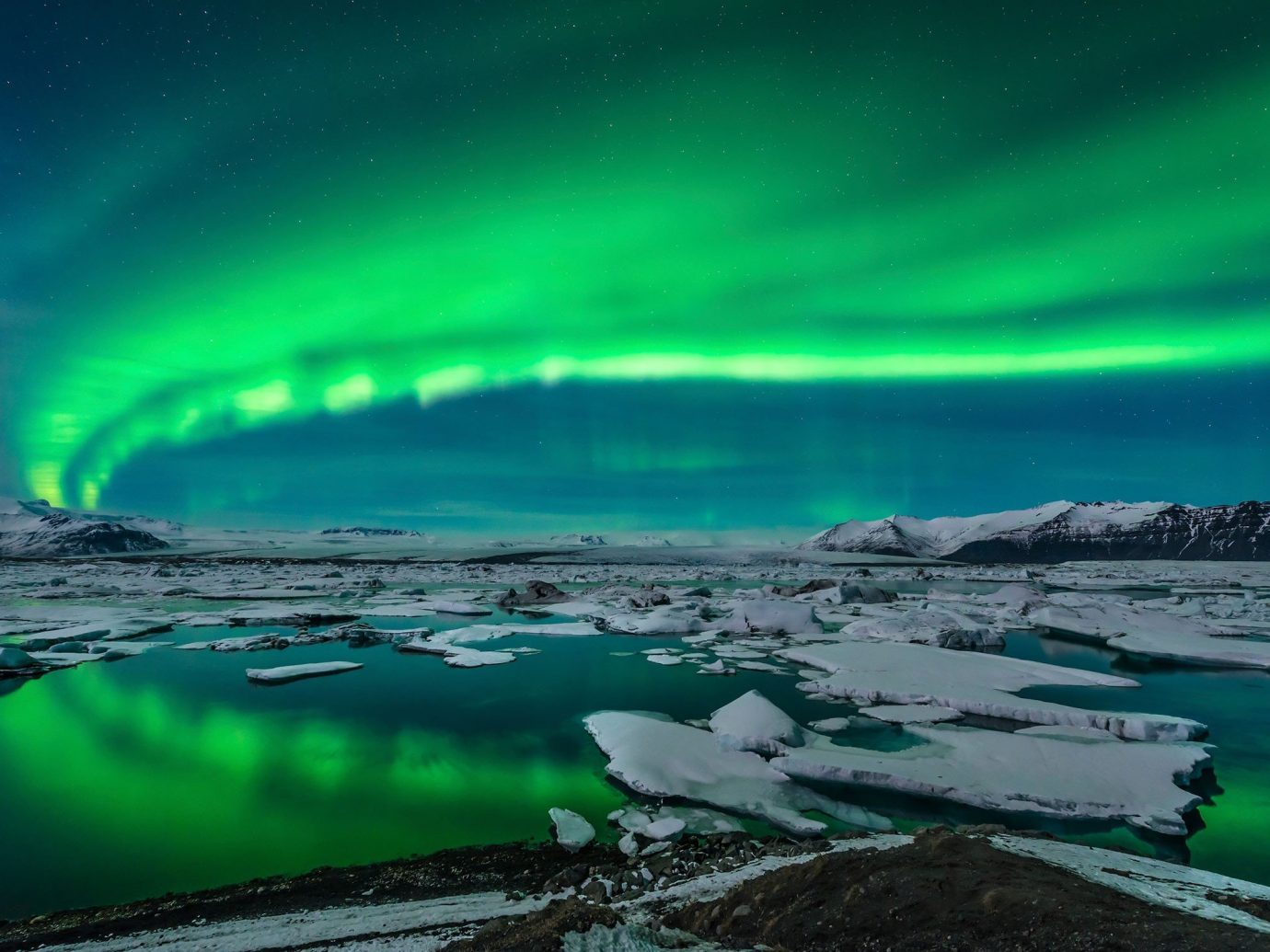 Trip Ideas water aurora outdoor green Nature atmosphere