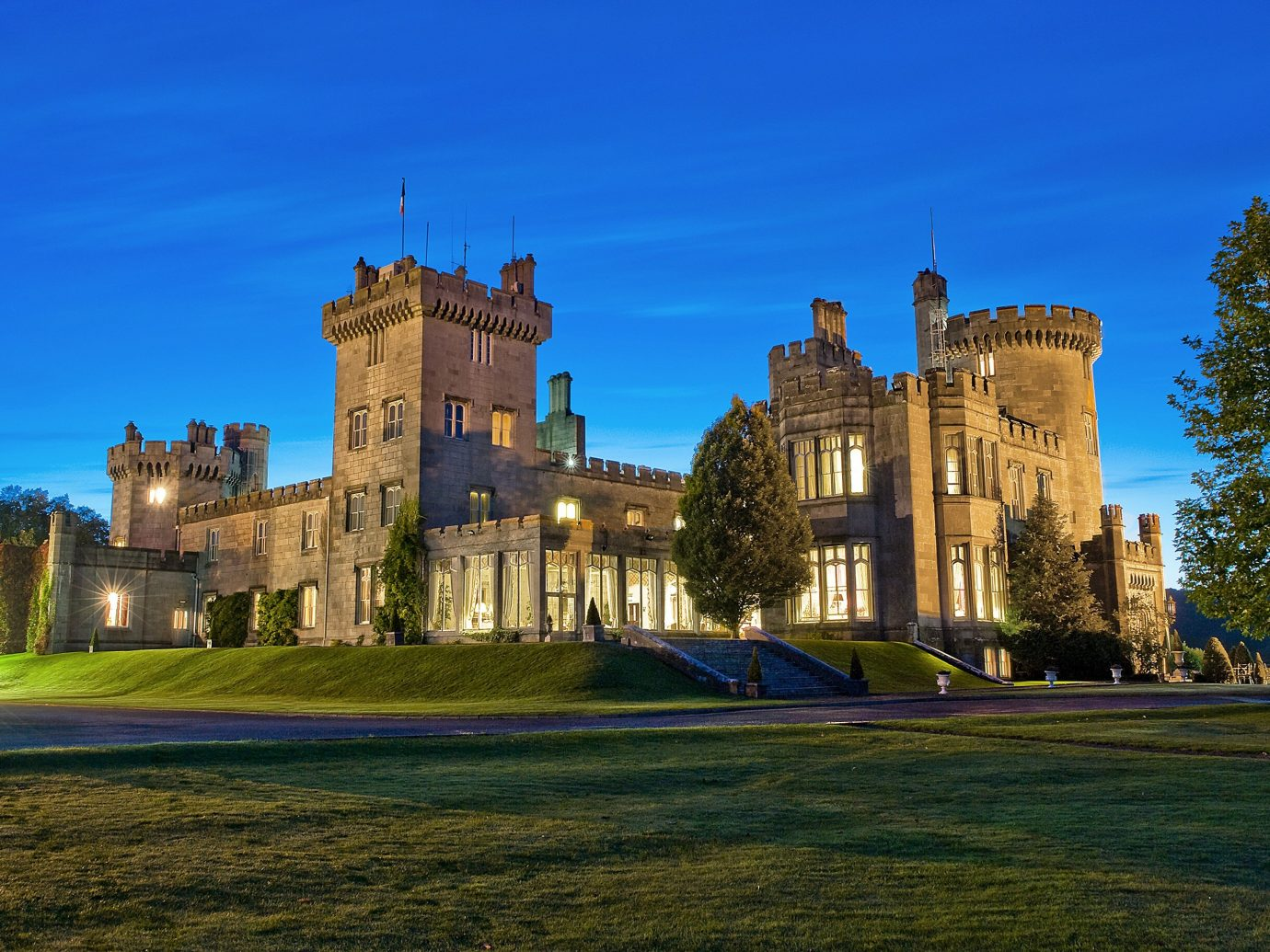 Hotels grass sky outdoor building castle landmark château stately home estate palace