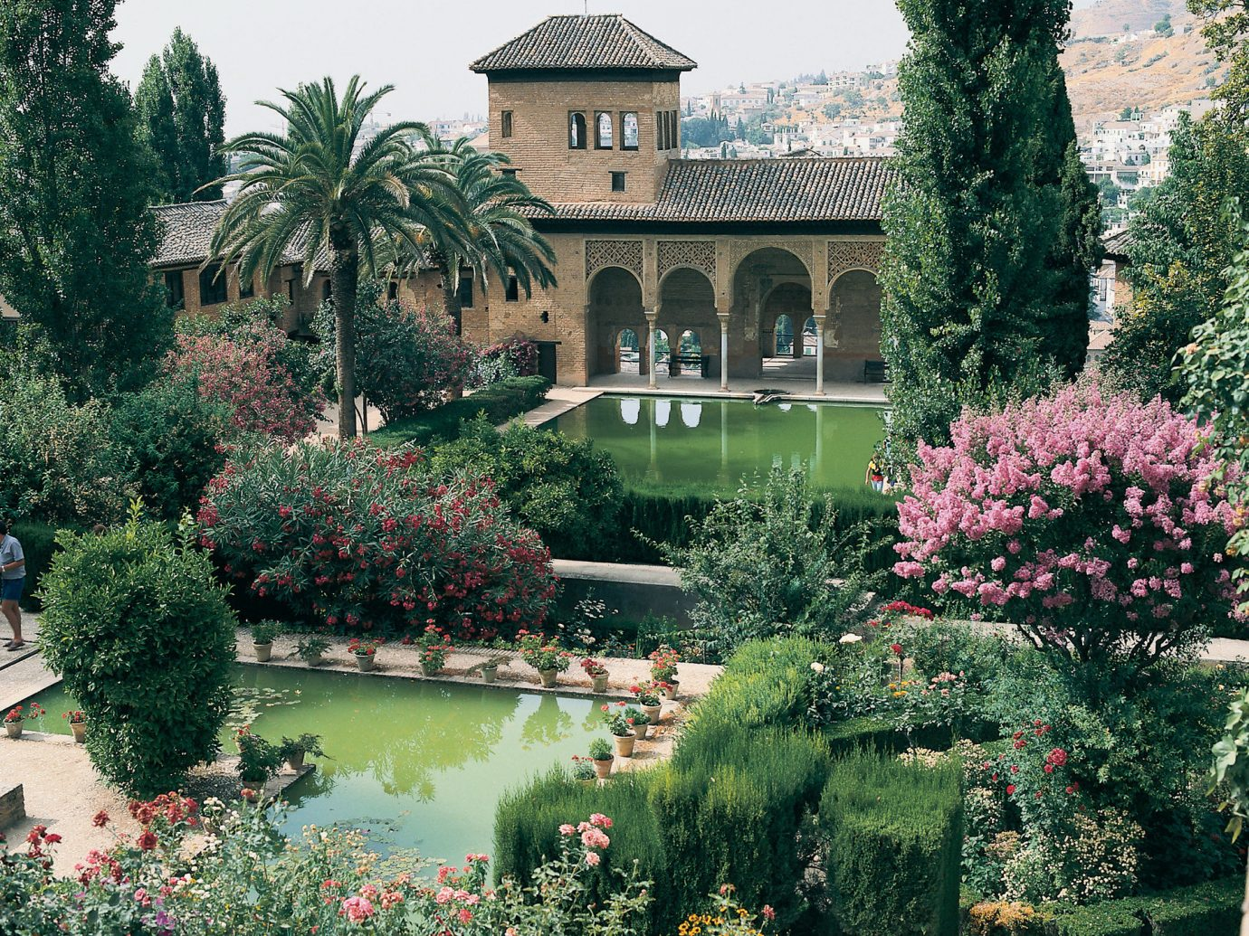 Trip Ideas tree outdoor building Garden flower bushes estate botany plant house green home Courtyard mansion botanical garden yard backyard lawn surrounded palace park stone colonnade
