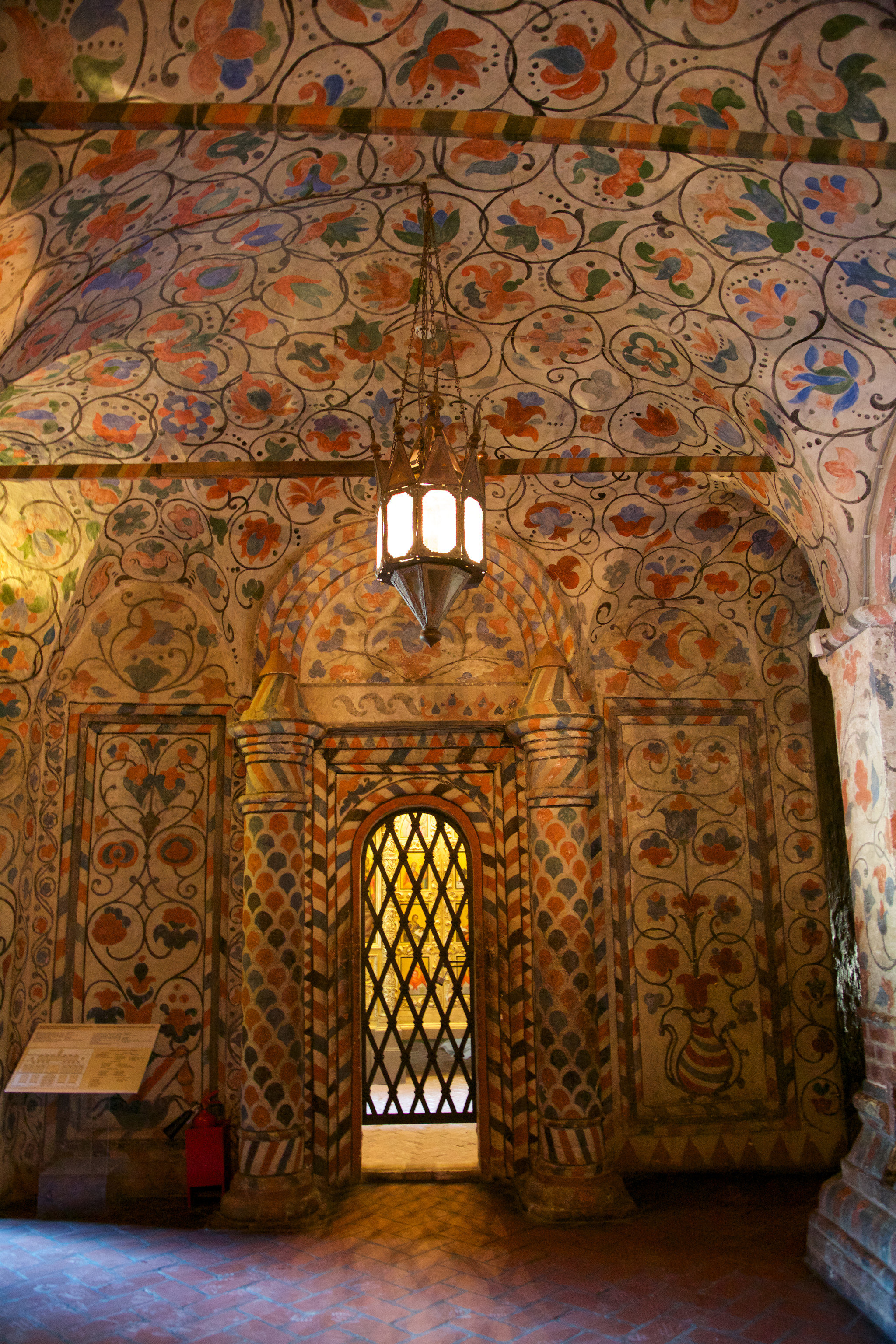 Trip Ideas indoor wall floor room building colorful art ancient history carving palace temple flooring decorated colored painting arch altar