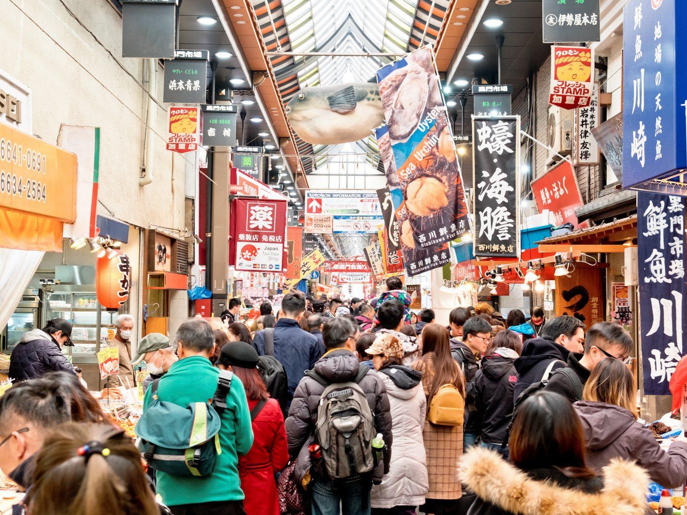 Japan Trip Ideas person street public space market urban area shopping crowd City marketplace scene bazaar retail service store