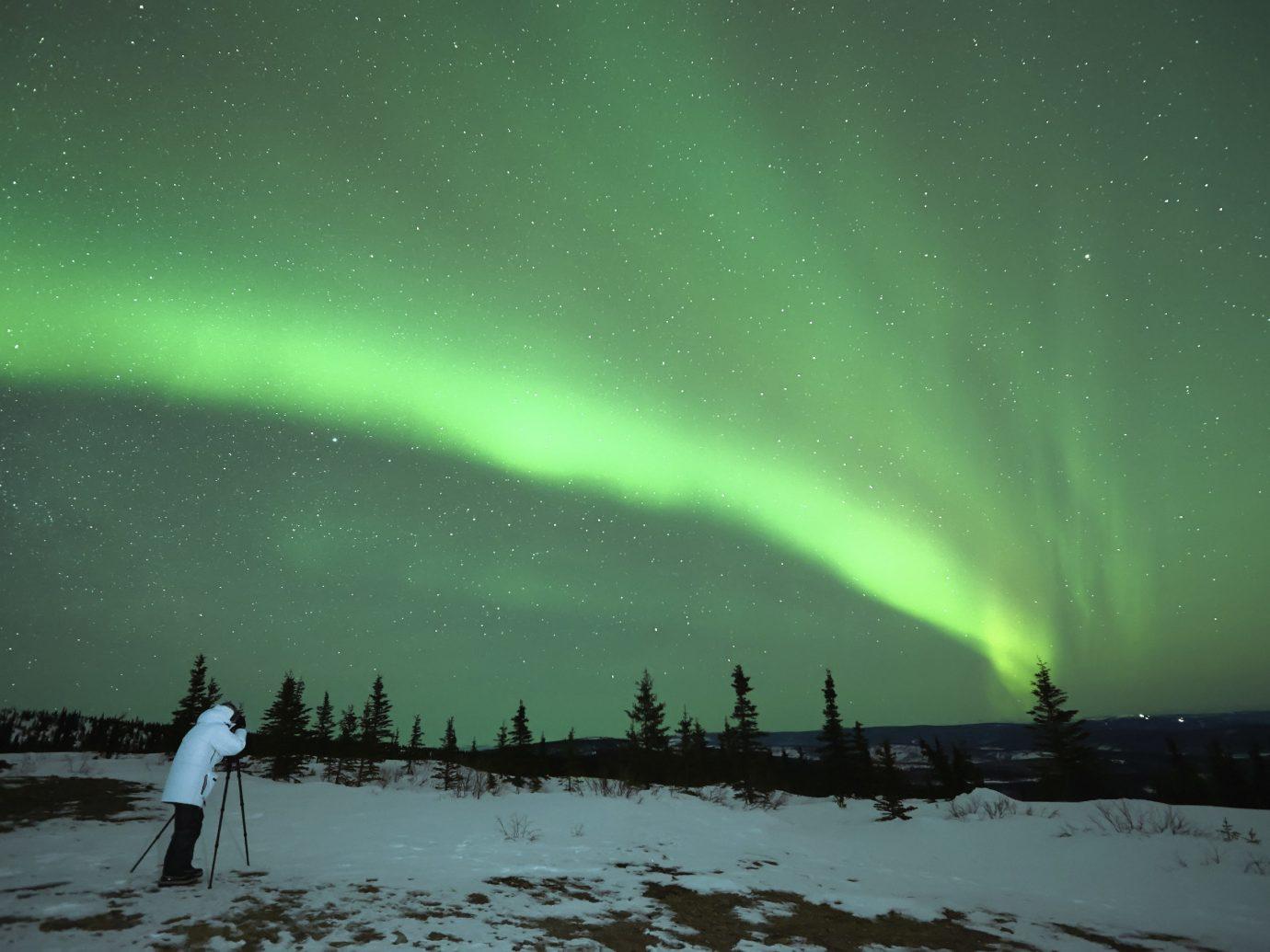 Trip Ideas Winter aurora Nature atmosphere Night Sky
