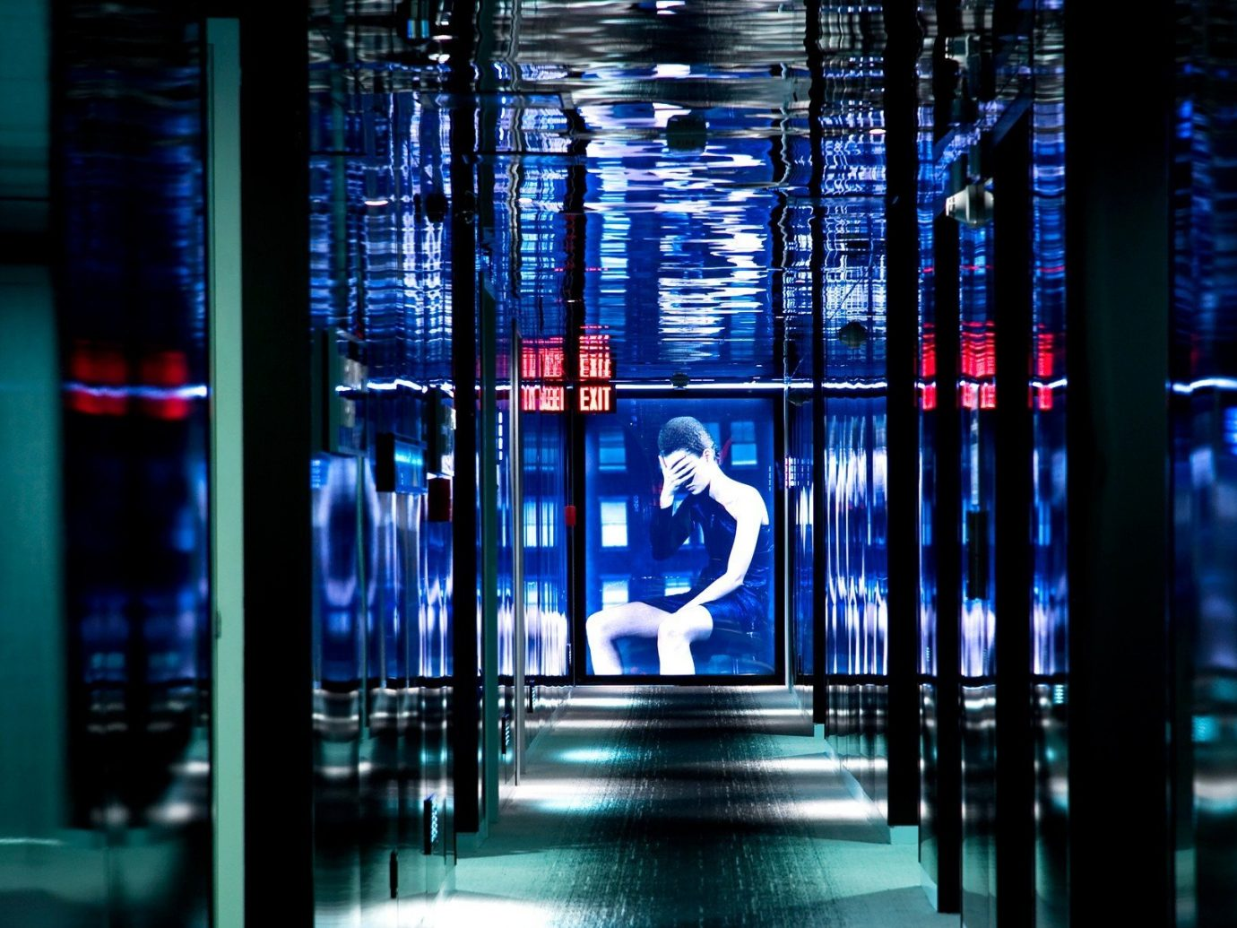 Hotels Offbeat light night reflection lighting stage interior design glass
