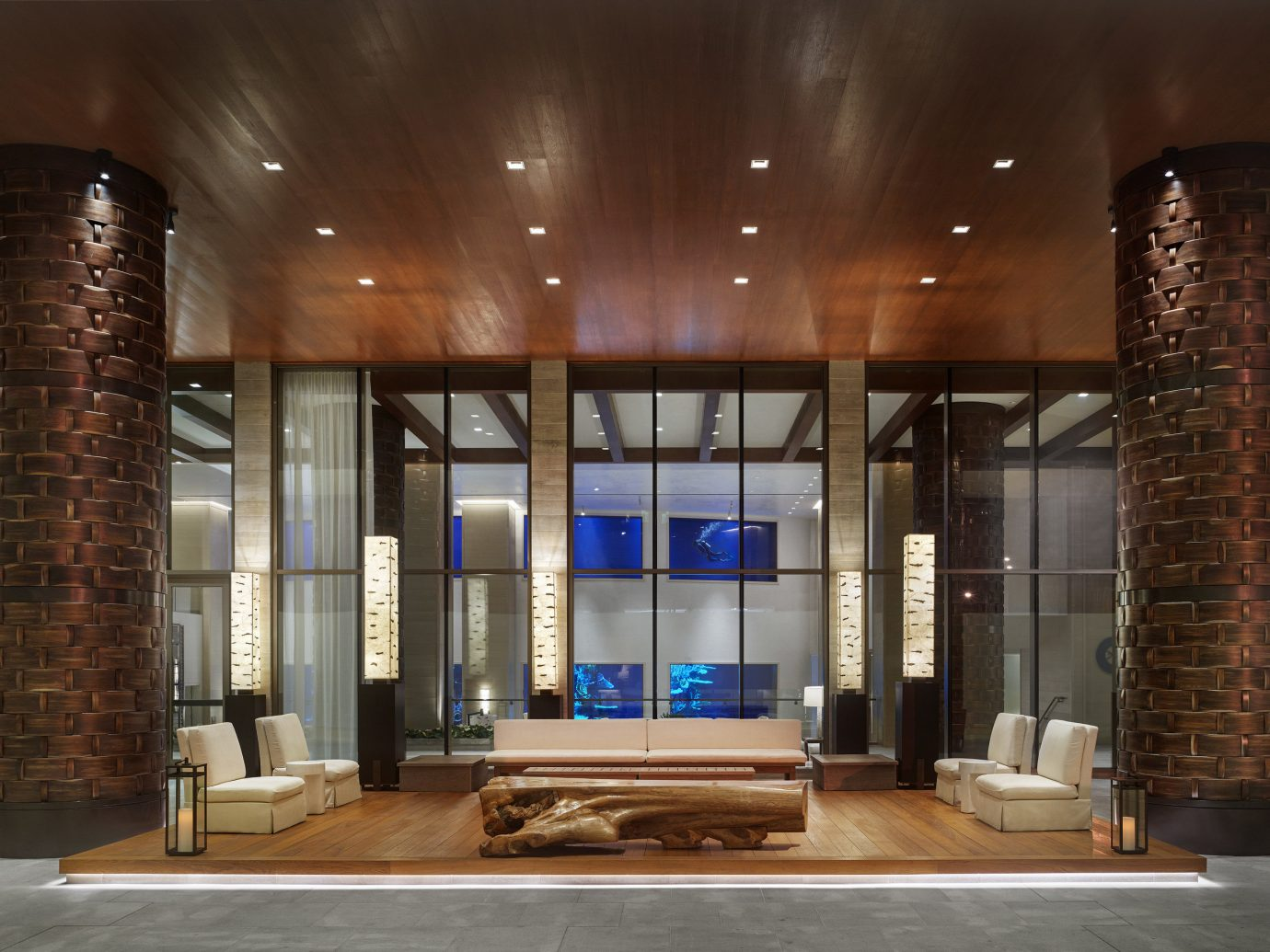 Boutique Hotels Hawaii Honolulu Hotels indoor ceiling Lobby interior design counter facade building condominium furniture