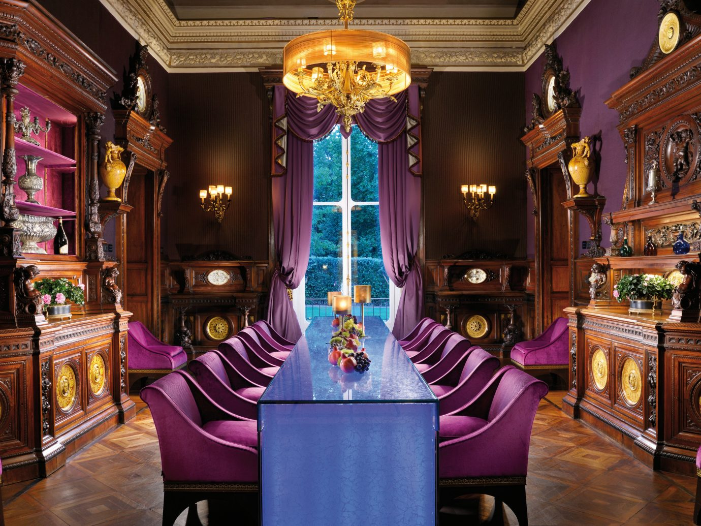 Florence Hotels Italy floor indoor building room Living purple tourist attraction interior design decorated furniture
