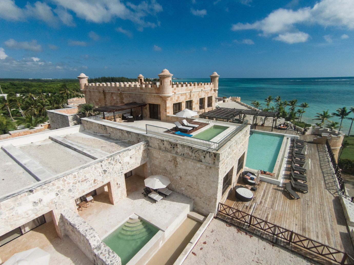 All-Inclusive Resorts caribbean sky outdoor property vacation estate Villa Sea palace mansion Resort cement stone