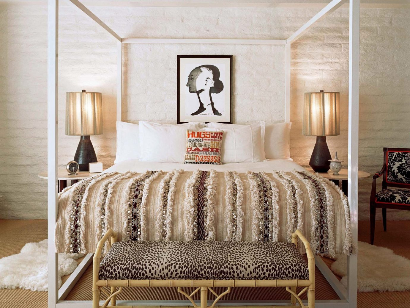 Bedroom Design Hip Hotels Modern Romance floor indoor room furniture chair bed living room interior design wood bed frame table bed sheet studio couch four poster