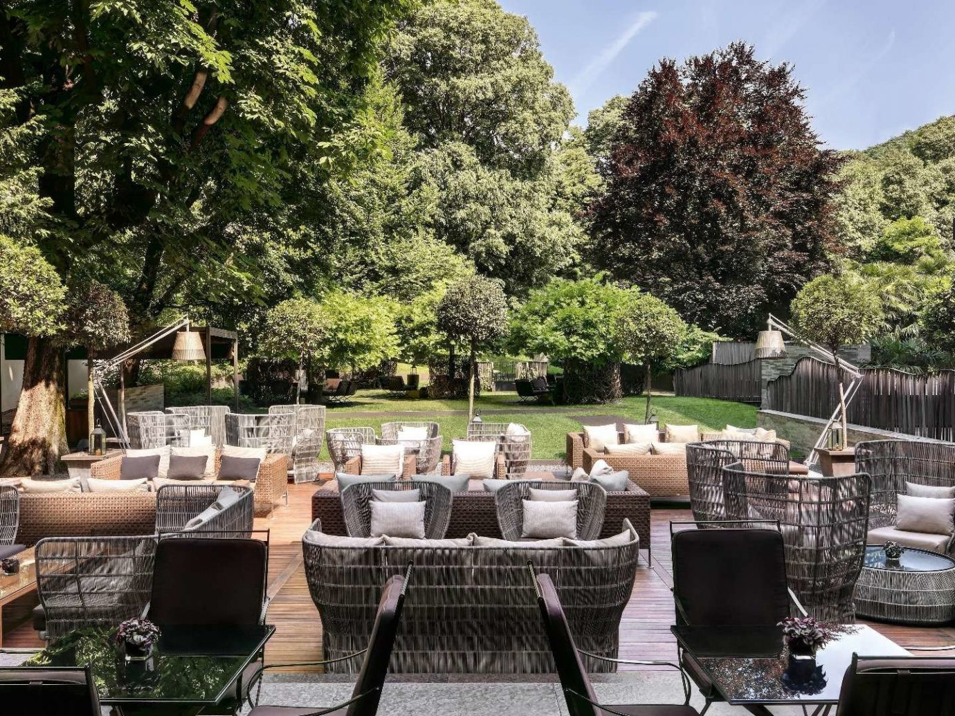 Hotels Italy Milan property backyard Patio outdoor structure estate home tree real estate plant interior design Resort landscaping