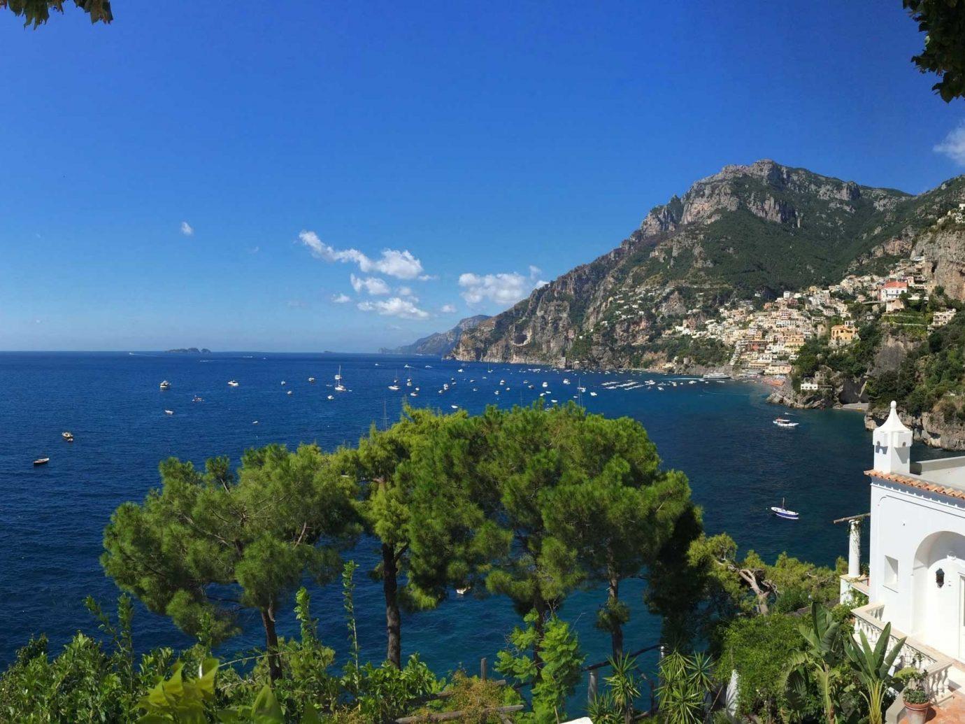 View of the ocean from Villa Tre Ville, Positano