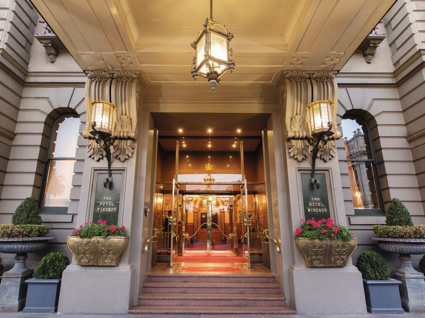 Australia Hotels Melbourne estate interior design column plant Lobby home real estate facade window stone decorated