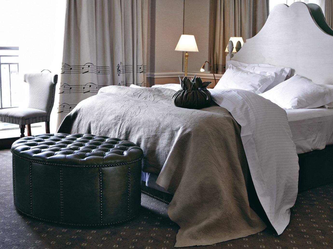 Hotels bed indoor hotel furniture room curtain Bedroom product bed sheet duvet cover textile bed frame studio couch living room table