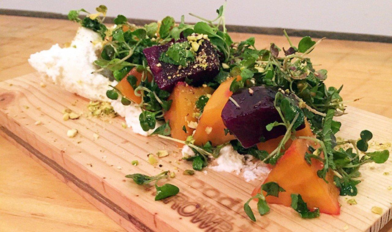 Trip Ideas table indoor dish food salad wooden produce board vegetable cuisine meal sliced piece de resistance