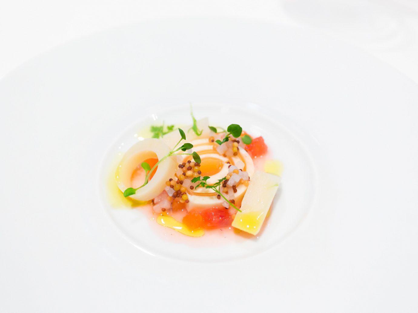 Hotels Romance Spa Retreats Trip Ideas plate food dish cuisine meal fish produce white vegetable breakfast soup piece de resistance