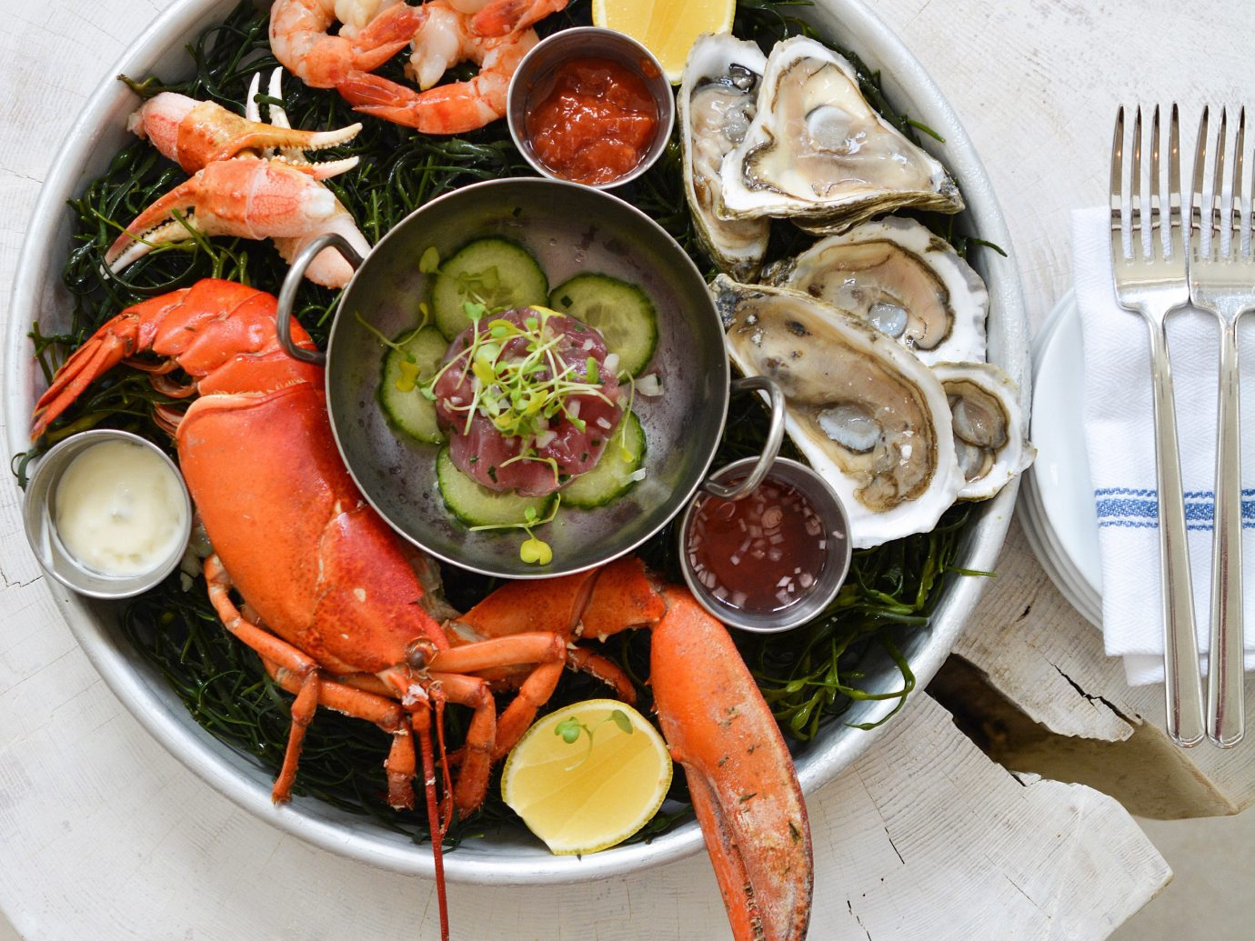 Hotels food dish plate cuisine meal Seafood fish asian food toppings