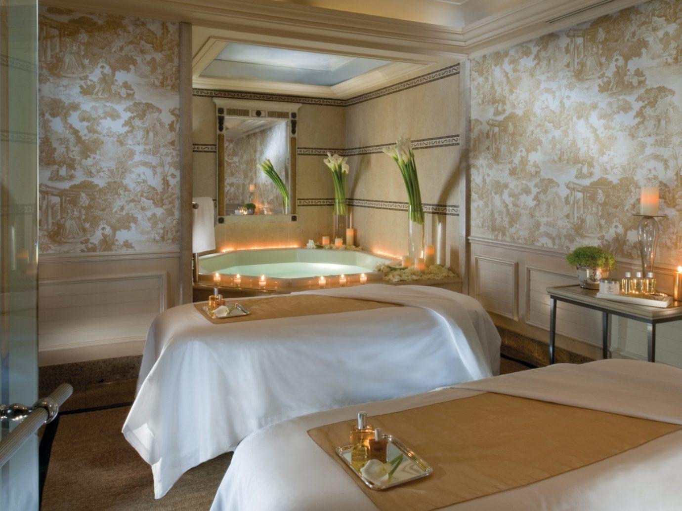 Health + Wellness Hotels Spa Retreats indoor wall room property Bedroom Suite estate interior design cottage