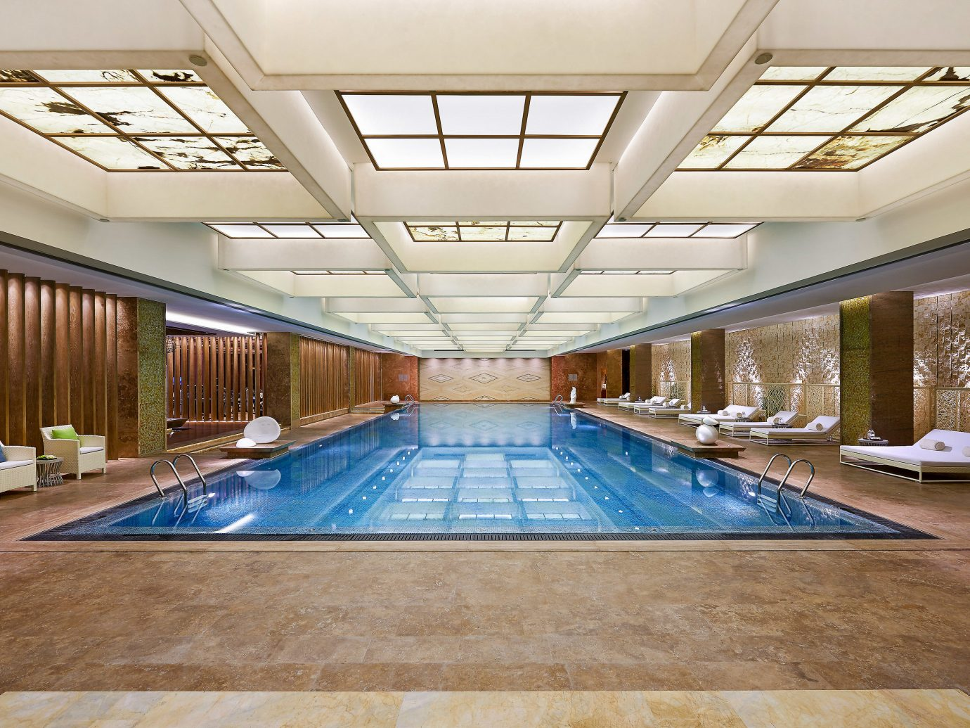 Boutique Hotels Luxury Travel indoor ceiling floor swimming pool leisure centre leisure daylighting Lobby real estate estate interior design apartment hotel amenity flooring condominium roof