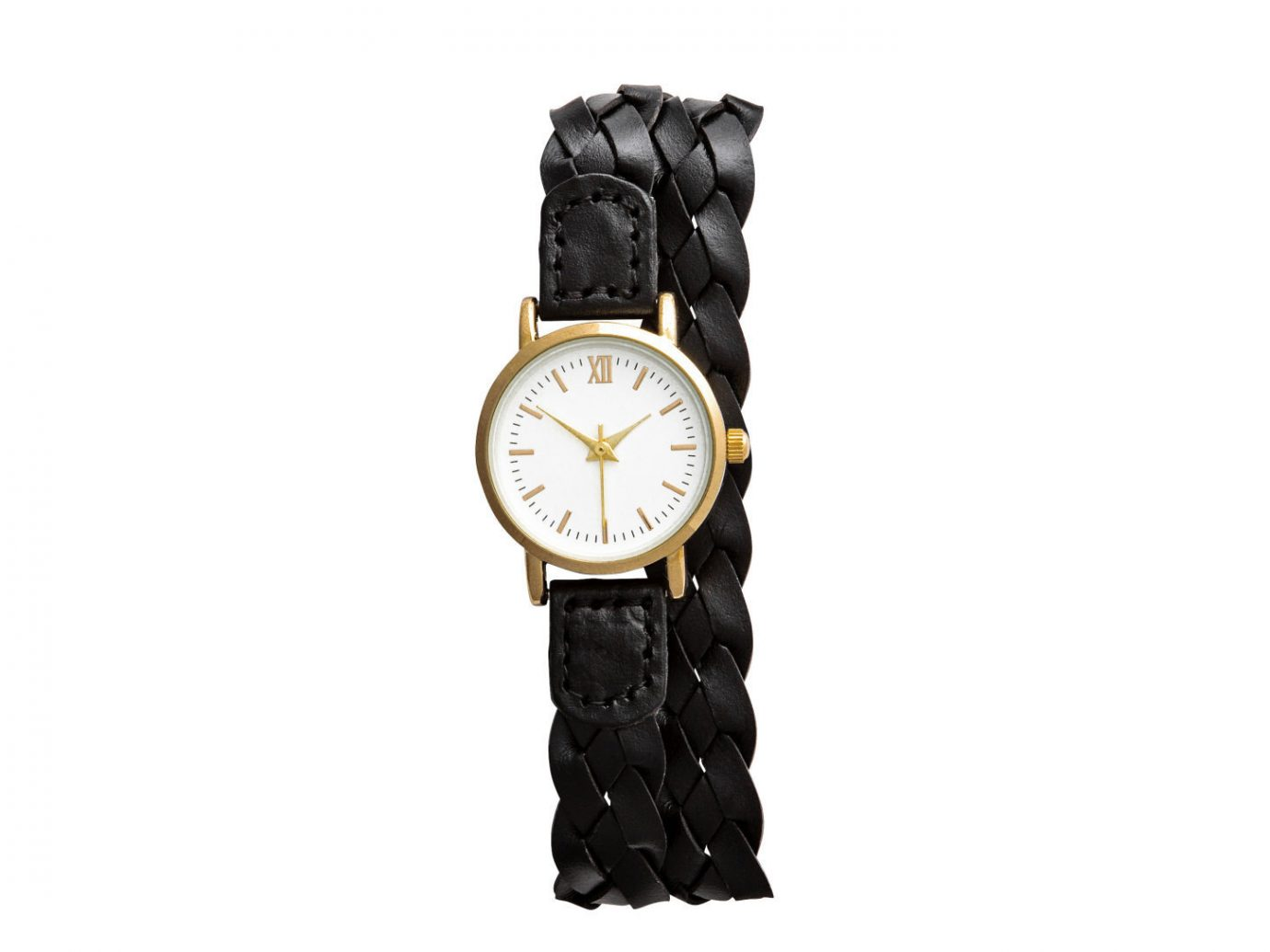 Style + Design clock watch product hand strap black brand leather colored