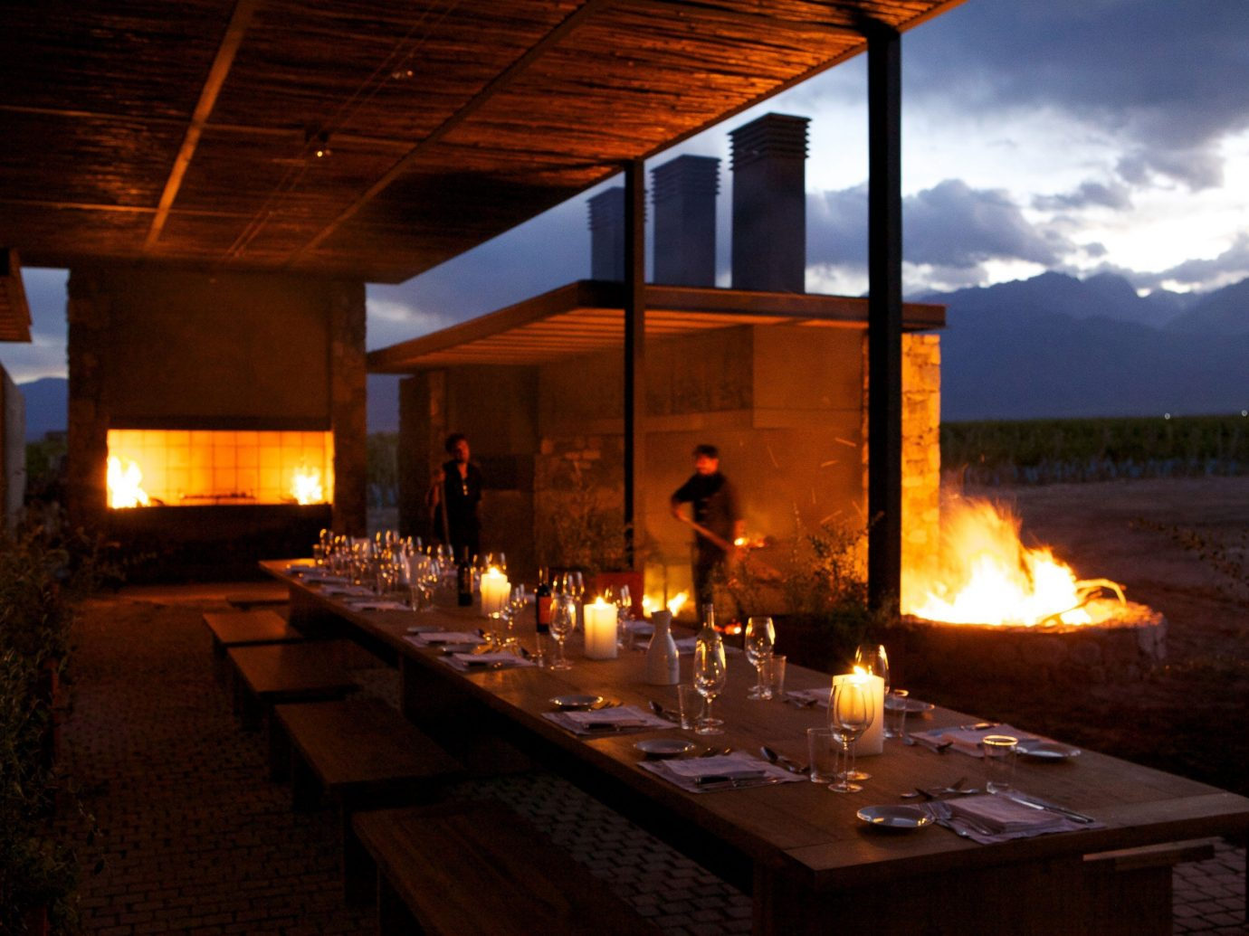 Food + Drink lighting restaurant fire dark Island