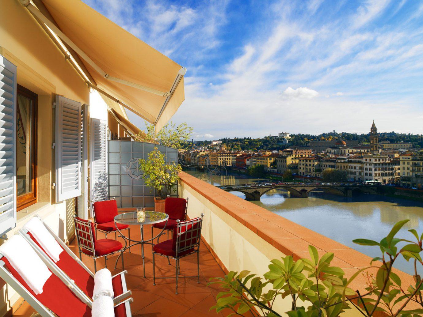 Elegant Florence Hotels Italy Luxury Terrace Waterfront leisure property vacation Resort estate real estate Villa furniture