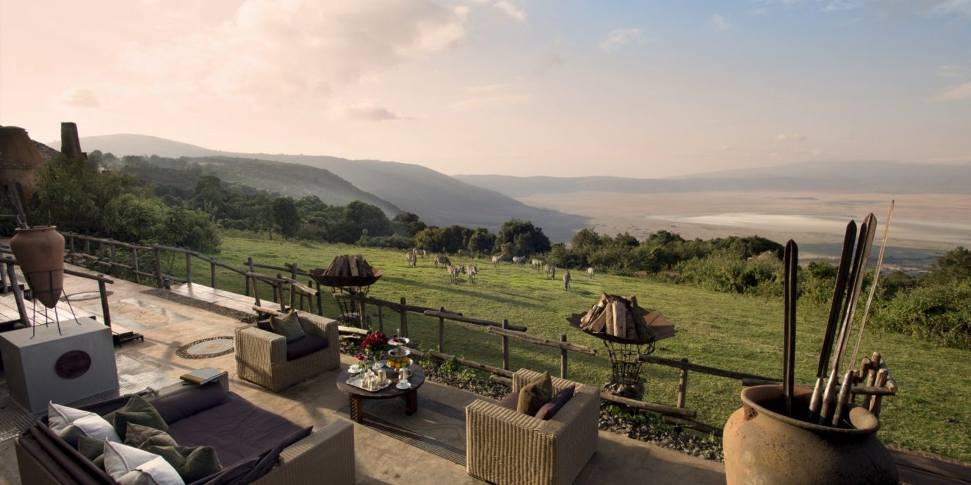 View from andBeyond Ngorongoro Crater Lodge, Tanzania African Safari
